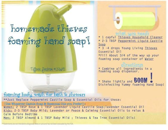 Thieves foaming hand soap Find me- Cheryl Von Flue @ LiveWellCheryl@yahoo.com or YoungLiving.org #1399653
