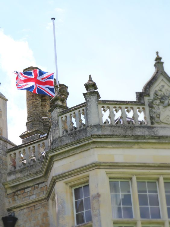 The Union flag at half-mast to show respect for lives lost as a result of the terrorist attack that happened a year ago today in Sousse, Tunisia.