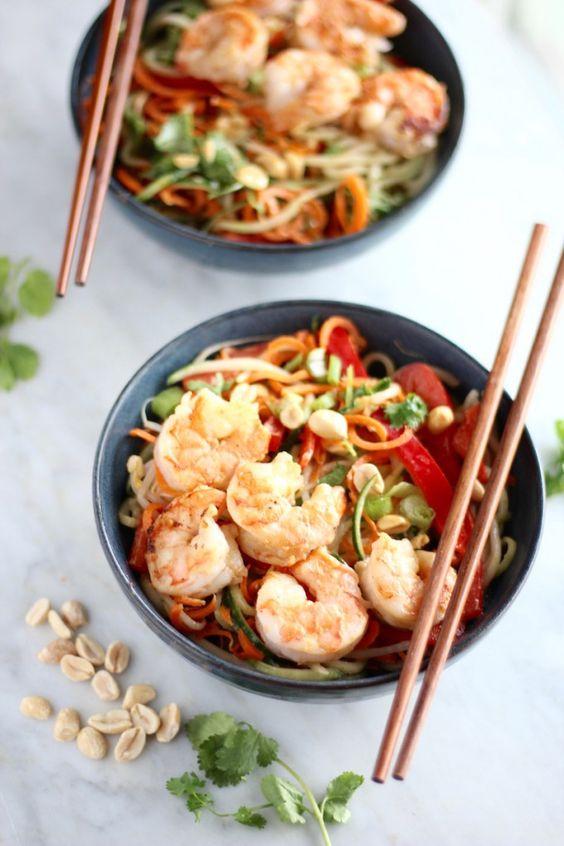 Pad Thai Salad with Grilled Shrimp Recipe Thai Salads, Grilled
