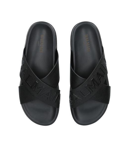 The White Brand Damen Sandalen Slides mit Schmucksteinen Pantoletten SALE /%