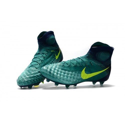 Botas de fútbol de hombre Nike Magista Obra II FG Verde ...