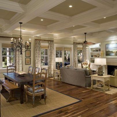Open floor plans open floor and floor plans on pinterest - Open floor plan decorating ...