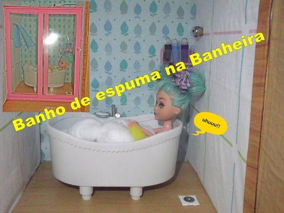 Como fazer banheira para bonecas Barbie, Monster high, etc...