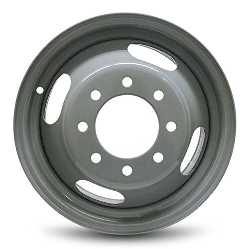 Road Ready Car Wheel For 2003 2015 Chevrolet Express 3500 Gmc Savana 3500 2001 2007 Chevrolet Silverado 3500 Gmc Sierra 3500 16 Inch 8 Lug Gray Steel Rim Fits R16 Tire Exact Oem