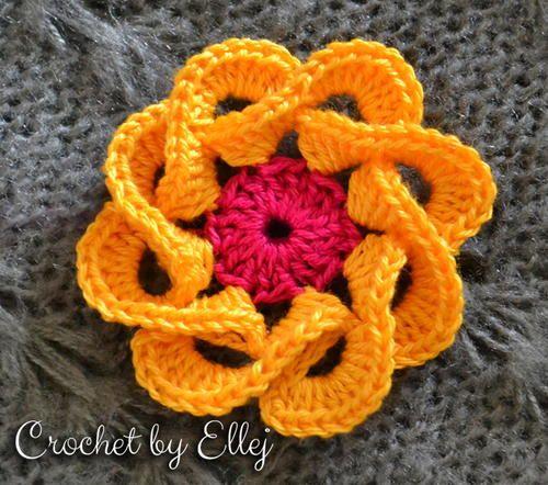 Ellejs Flower | AllFreeCrochet.com