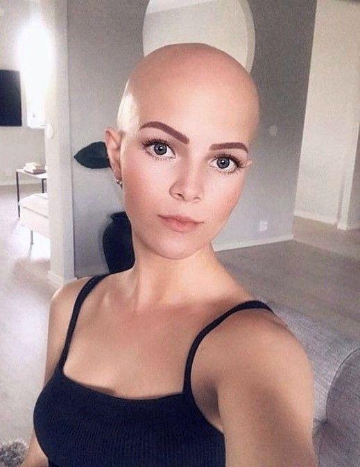 Headshave girl Bald