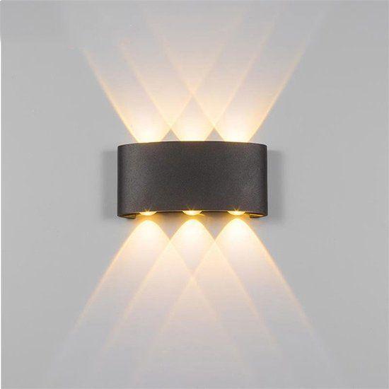 Groenovatie Led Wandlamp 6w Triple 170x80x40 Mm Warm Wit Zwart Wandlamp Verlichting Muurverlichting