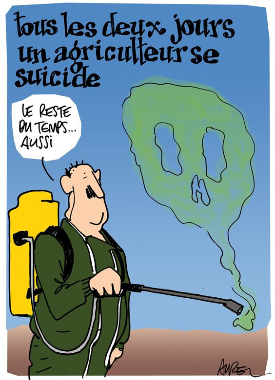 Les dessins de la semaine : suicides chez les agriculteurs et Le Pen mania - Politis