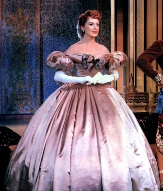 "Costume designed by Irene Sharaff for Deborah Kerr in ""The King and I"" (1956.) I love watching her dance the waltz in this dress. Th king looks good also, come to think of it.:"