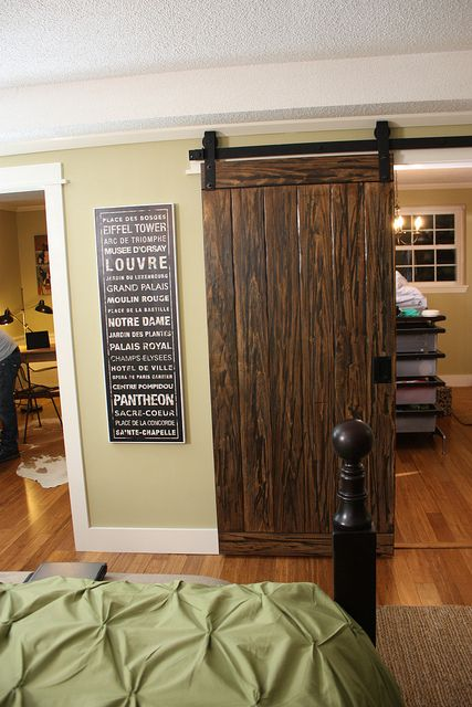 Barn Door I Made For A Walk In Closet On Flat Iron Track Hardware The Wife Wants One Of These