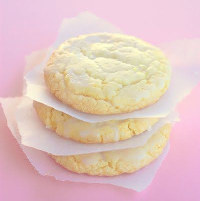 Lemon Drop cookies - chewy cookie with bits of crushed up lemon drop in them. YUM-O!