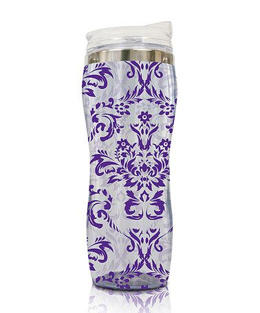 Take a look at this Purple Damask Eco Silhouette Chrome Tumbler by Smart Planet on #zulily today!