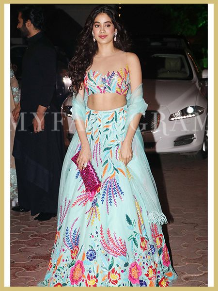 Wedding season, Desi Style, Lehengas, Jhanvi Kapoor, Manish Malhotra, My Fashgram