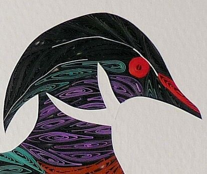 Quilled Wood Duck original handcrafted framed Quilling by Sandra White | QuillingbySandraWhite - Housewares on ArtFire