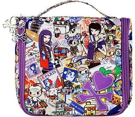 Tokidoki Passport Collection Hanging Travel Makeup Organizer Bag