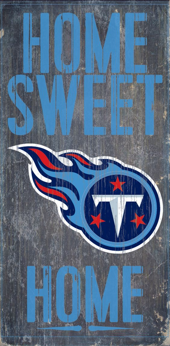 "Tennessee Titans Wood Sign - Home Sweet Home 6""x12"""