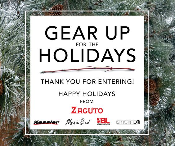 Thanks for entering the Gear Up For The Holidays Giveaway! You can see all the winners here: http://bit.ly/1AAG6fG Happy Holidays from the Z Team!