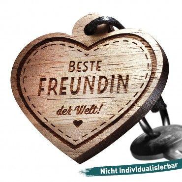 Schlüsselanhänger mit Gravur: Beste Freundin der Welt!