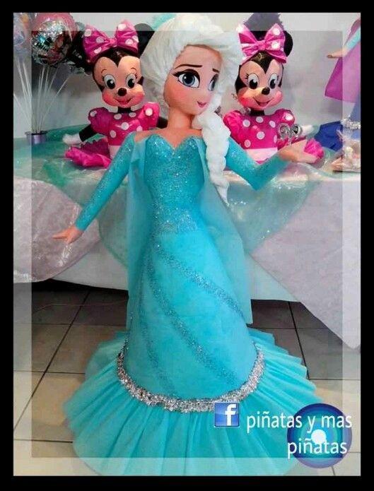Disney Frozen Elsa Pinata Cataleya 3rd Bday Party Frozen