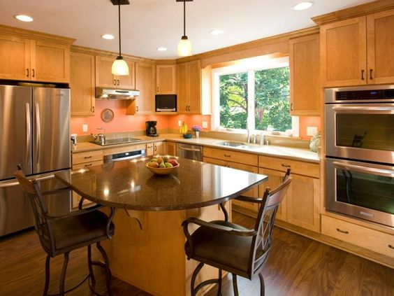 A smaller corner kitchen - utilize your existing space.