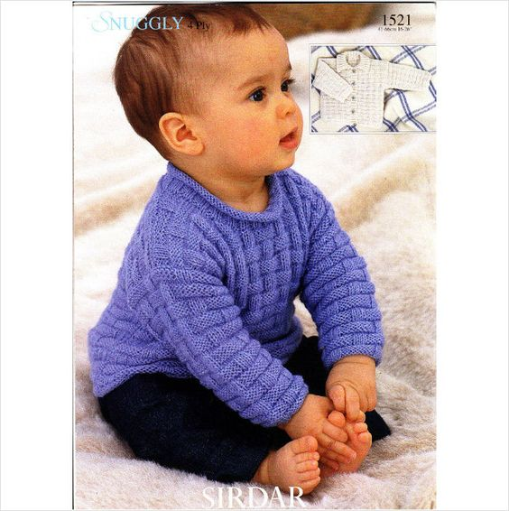 Knitting Patterns For Jumpers For Toddlers : 1521 Sirdar Knitting Pattern Baby Child Jumper Baby/Toddler Knit/Crocheting...