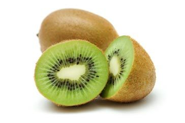 Facts About Kiwifruit    • Nutritional value (1 large): 56 calories, 3 g fibre, source of vitamins C and E, and of magnesium and potassium      Source: http://www.canadianliving.com/health/nutrition/top_25_healthy_fruits_blueberries_apples_cherries_bananas_and_21_more_healthy_picks_3.php