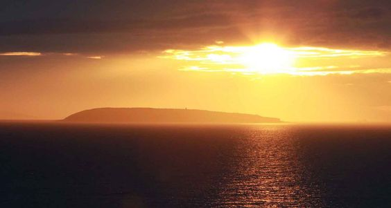 Sunset over Puffin Island at Anglesey