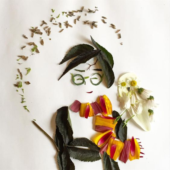 Harry Potter… | This Woman Makes Beautiful Art Out Of Things She Finds In Her Garden