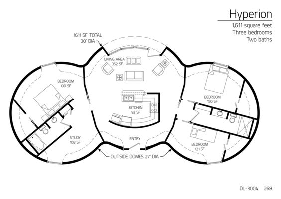 Cordwood round house floor plan yurts and other tiny for Round homes floor plans