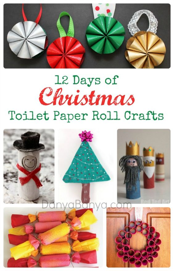 Christmas toilet paper toilet paper roll crafts and paper for Things to make with toilet paper rolls