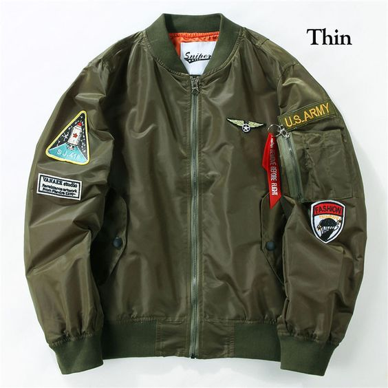 Flight Pilot Jacket Coat Bomber Ma1 Men Bomber Jackets Nasa Air ...