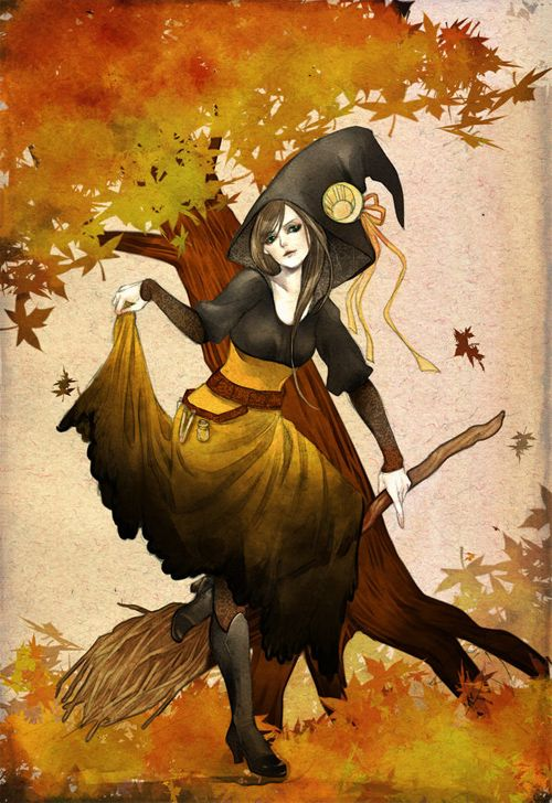 Halloween witch by Jurithedreamer: