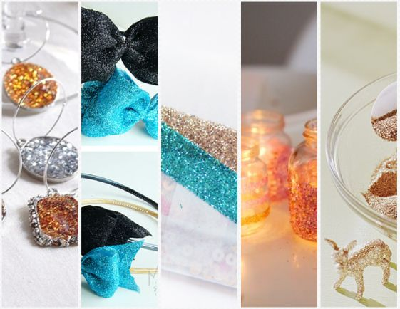 10 lovely glitter projects