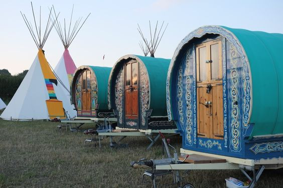 Gallery of Greg's Gypsy Bowtop Caravans. Images taken at festivals and events.