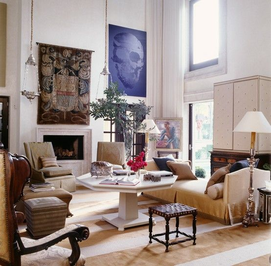 McAlpine.  I adore this living room, and I wouldn't change a thing.
