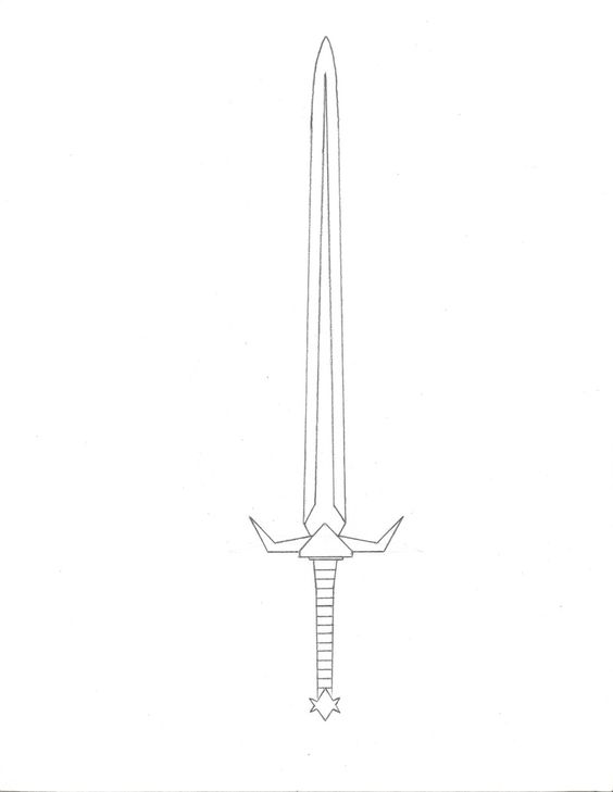 Pencil drawing of The Sword of Fire, in Zebulon And The ...