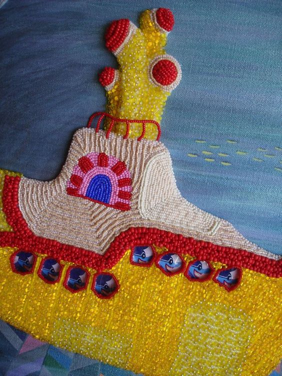 THE HIJACK beaded Beatles Yellow Submarine by thelonebeader
