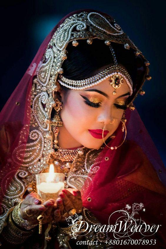 قصيدة شوق البعاد إلي مجهولة الاسم والعنوان Indian Bride Makeup Indian Bridal Indian Bridal Makeup