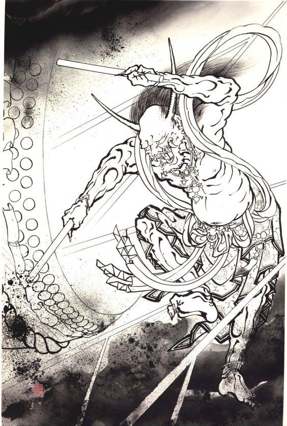 Japanese Demons Tattoo Design