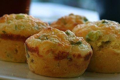 Muffins de queso y cebolleta