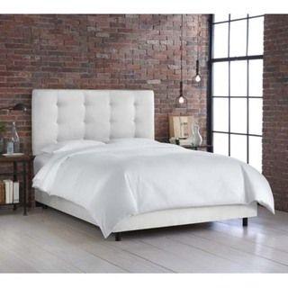 Skyline Furniture Premier White Button Tufted Bed