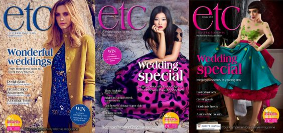Three covers for October. #Hampshire features an image from #East, whereas the #Sussex editions have images from #BrightonFashionWeek.