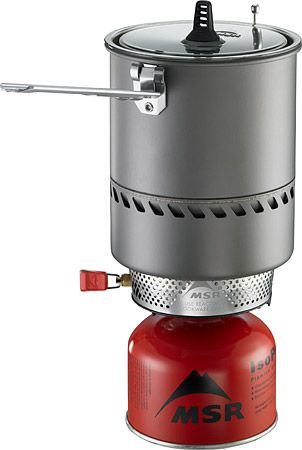 MSR Reactor - The World's Fastest and Most Fuel Efficient Stove. Ever. The combination stove and cookware unit uses a radiant burner and heat exchanger for unmatched abilities in any condition. Stove and fuel canister stow inside the pot. 1.7-Liter pot feeds 1-3 people.