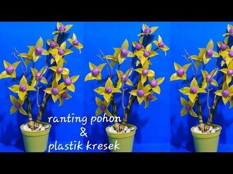 Bunga Plastik Kresek Dan Limbah Kayu Youtube Galeri Flag
