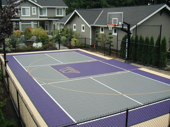Backyard Basketball Courts 6 Hockey Pinterest
