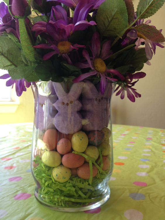 Easter Bouquet. This one is smaller that the other two. I used malted milk eggs in this one.
