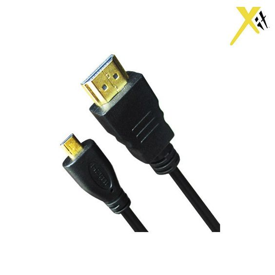 2-Pack: Xit 6' High-Speed Gold-Plated Mini-HDMI-to-HDMI Cables