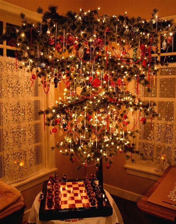 Upside Down Christmas Tree Beading And Christmas Trees On
