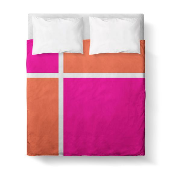 Duvet Cover, Color Block by Kalilaine