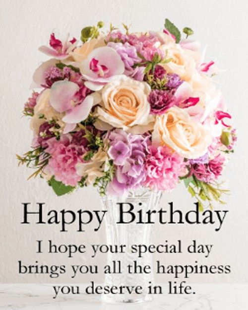Awesome Happy Birthday I Hope Your Special Day Brings You All The Personalised Birthday Cards Bromeletsinfo